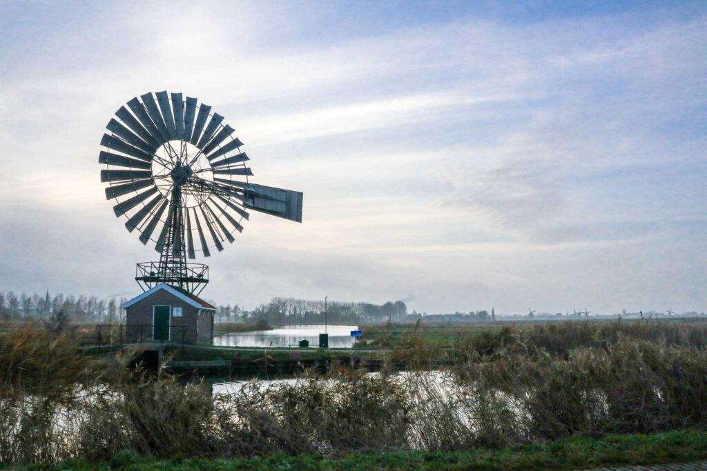 Amerikaanse windmolen Hercules Zaandam cp